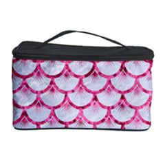 Scales3 White Marble & Pink Marble (r) Cosmetic Storage Case