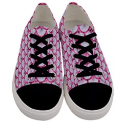 Scales3 White Marble & Pink Marble (r) Men s Low Top Canvas Sneakers