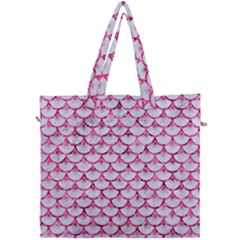 Scales3 White Marble & Pink Marble (r) Canvas Travel Bag by trendistuff