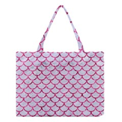 Scales1 White Marble & Pink Marble (r) Medium Tote Bag