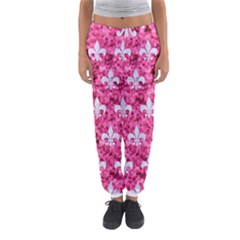 Royal1 White Marble & Pink Marble (r) Women s Jogger Sweatpants