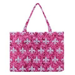 Royal1 White Marble & Pink Marble (r) Medium Tote Bag
