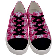 Royal1 White Marble & Pink Marble (r) Men s Low Top Canvas Sneakers