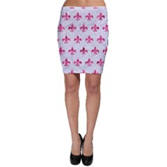 Royal1 White Marble & Pink Marble Bodycon Skirt