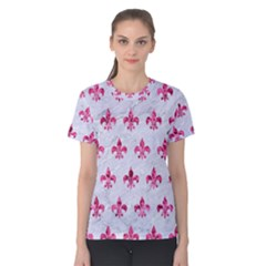 Royal1 White Marble & Pink Marble Women s Cotton Tee