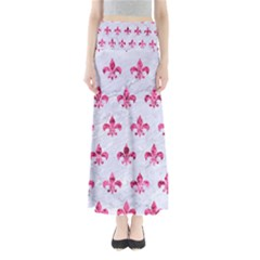 Royal1 White Marble & Pink Marble Full Length Maxi Skirt