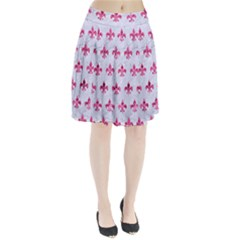 Royal1 White Marble & Pink Marble Pleated Skirt