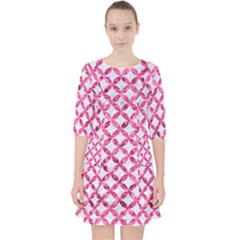 Circles3 White Marble & Pink Marble (r) Pocket Dress by trendistuff