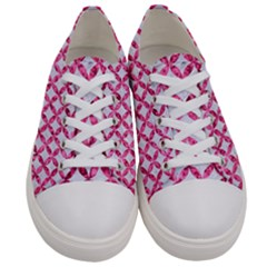 Circles3 White Marble & Pink Marble (r) Women s Low Top Canvas Sneakers