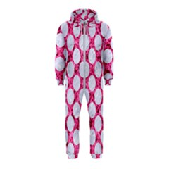 Circles2 White Marble & Pink Marble Hooded Jumpsuit (kids)