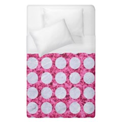 Circles1 White Marble & Pink Marble Duvet Cover (single Size)