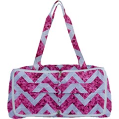 Chevron9 White Marble & Pink Marble Multi Function Bag	 by trendistuff