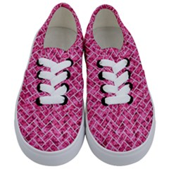 Brick2 White Marble & Pink Marble Kids  Classic Low Top Sneakers