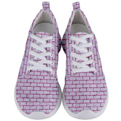 Brick1 White Marble & Pink Marble (r) Men s Lightweight Sports Shoes