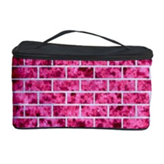Brick1 White Marble & Pink Marble Cosmetic Storage Case