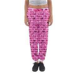 Brick1 White Marble & Pink Marble Women s Jogger Sweatpants
