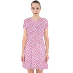 Woven2 White Marble & Pink Watercolor Adorable In Chiffon Dress