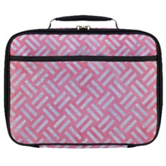 Woven2 White Marble & Pink Watercolor Full Print Lunch Bag