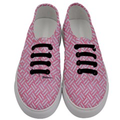 Woven2 White Marble & Pink Watercolor Men s Classic Low Top Sneakers