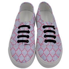 Tile1 White Marble & Pink Watercolor (r) Men s Classic Low Top Sneakers