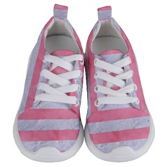 Stripes2white Marble & Pink Watercolor Kids  Lightweight Sports Shoes