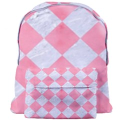 Square2 White Marble & Pink Watercolor Giant Full Print Backpack