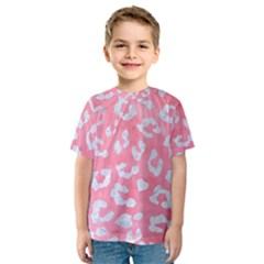 Skin5 White Marble & Pink Watercolor (r) Kids  Sport Mesh Tee