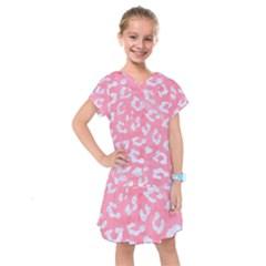 Skin5 White Marble & Pink Watercolor (r) Kids  Drop Waist Dress
