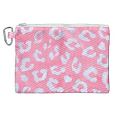 Skin5 White Marble & Pink Watercolor (r) Canvas Cosmetic Bag (xl)