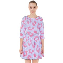 Skin5 White Marble & Pink Watercolor Smock Dress