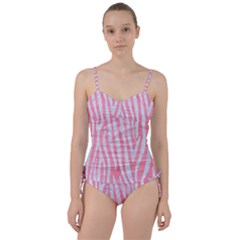 Skin4 White Marble & Pink Watercolor (r) Sweetheart Tankini Set