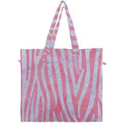 Skin4 White Marble & Pink Watercolor (r) Canvas Travel Bag by trendistuff