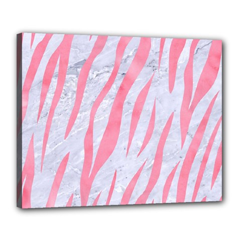 Skin3 White Marble & Pink Watercolor (r) Canvas 20  X 16  by trendistuff