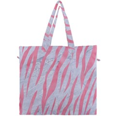 Skin3 White Marble & Pink Watercolor (r) Canvas Travel Bag by trendistuff
