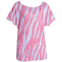 Skin3 White Marble & Pink Watercolor Women s Oversized Tee