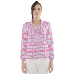 Skin2 White Marble & Pink Watercolor (r) Windbreaker (women)