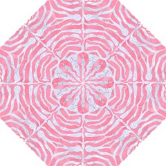 Skin2 White Marble & Pink Watercolor Folding Umbrellas