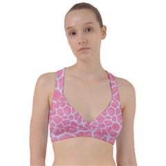 Skin1 White Marble & Pink Watercolor (r) Sweetheart Sports Bra