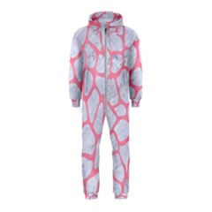 Skin1 White Marble & Pink Watercolor Hooded Jumpsuit (kids)
