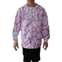 Skin1 White Marble & Pink Watercolor Hooded Windbreaker (kids)