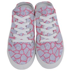Skin1 White Marble & Pink Watercolor Half Slippers