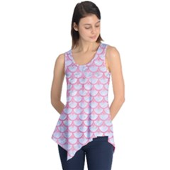 Scales3 White Marble & Pink Watercolor (r) Sleeveless Tunic
