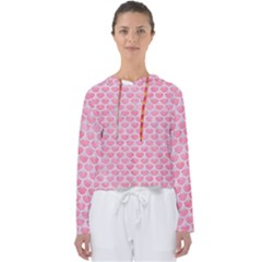 Scales3 White Marble & Pink Watercolor Women s Slouchy Sweat