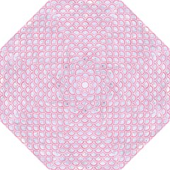 Scales2 White Marble & Pink Watercolor (r) Folding Umbrellas