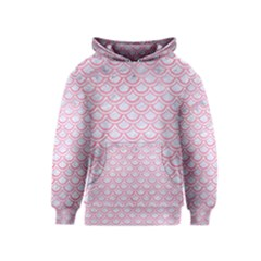 Scales2 White Marble & Pink Watercolor (r) Kids  Pullover Hoodie