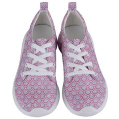 Scales2 White Marble & Pink Watercolor (r) Women s Lightweight Sports Shoes