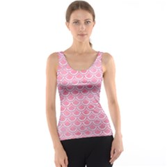 Scales2 White Marble & Pink Watercolor Tank Top