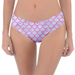Scales1 White Marble & Pink Watercolor (r) Reversible Classic Bikini Bottoms
