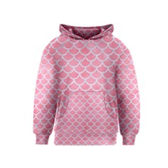 Scales1 White Marble & Pink Watercolor Kids  Pullover Hoodie
