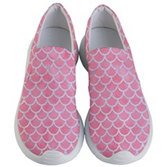 Scales1 White Marble & Pink Watercolor Women s Lightweight Slip Ons